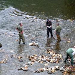 les Bénévoles en action de démontage des barrages
